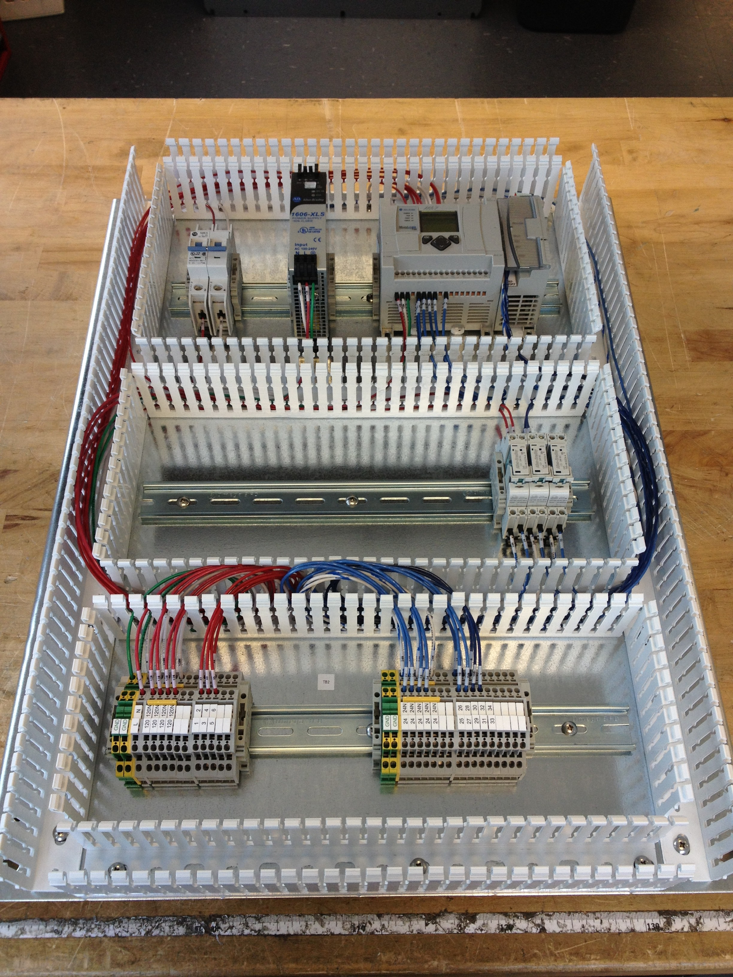 Electrical Control Panel Wiring Building Circuit Box Wired