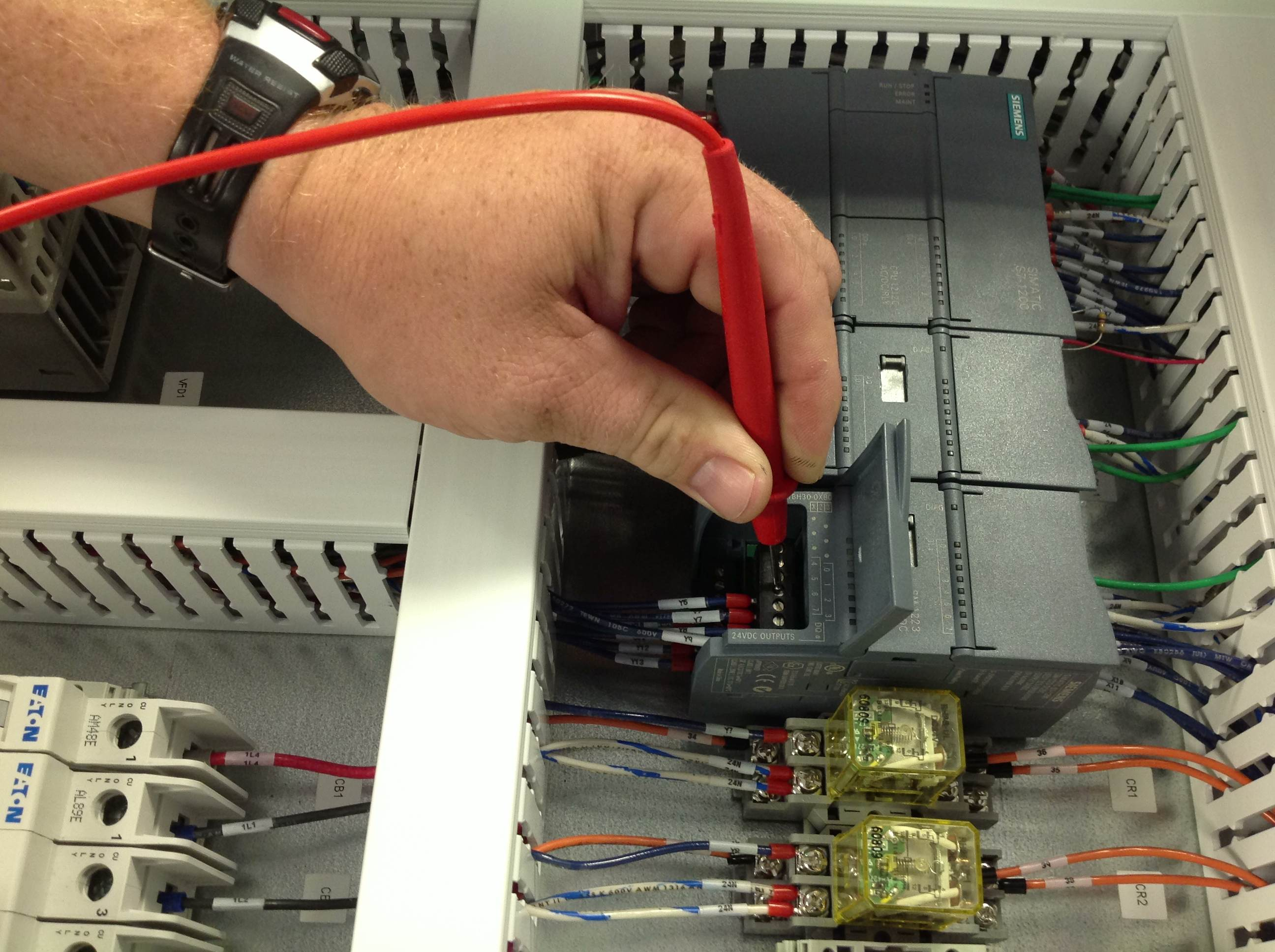 Control Panel Quality Test Assurance Robinson Wiring Harness Continuity Check Short Circuit Testing Plc Outputs